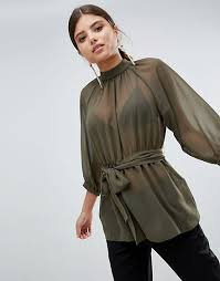 belted blouse belted blouse with open back thesmartgarments com