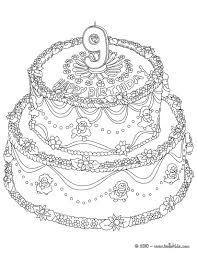birthday cake teddy bear coloring pages hellokids com