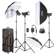 godox de300 d 3 300ws studio photo strobe flash light kit with