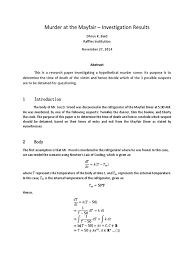 murder at the mayfair diner solution equations mathematical
