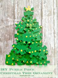 puzzle tree ornament craft idea craft