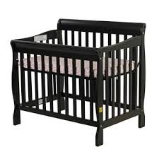 Mini Cribs Reviews On Me On Me Aden Convertible 3 In 1 Mini Crib Black