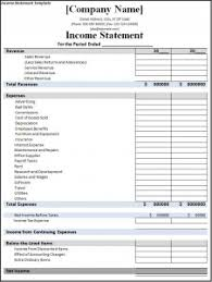Monthly Profit And Loss Statement Template by Income Statement Template Free Formats Excel Word