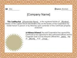 certificate of ownership template 40 free stock certificate