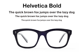 spectacle frames helvetica for your nose eyeglasses inspired by type design