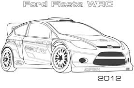 2012 ford fiesta wrc coloring free printable coloring pages