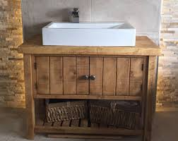 Bathroom Vanity Etsy - Solid wood bathroom vanity uk