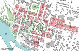 Buffalo New York Map Our Downtown Stadium