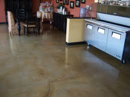 Laminate Flooring On Concrete Slab Polished Concrete Flooring Stained With Brown Swirl Pattern By