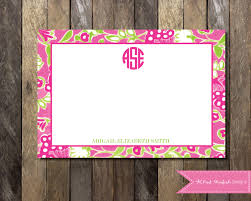 lilly pulitzer thank you note thank you card monogram lilly