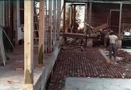 Brick Patio Diy Diy Brick Patio With Salvaged Bricks Cajun Food Louisiana