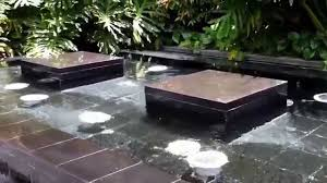 water feature in a restaurant outdoor seating area youtube