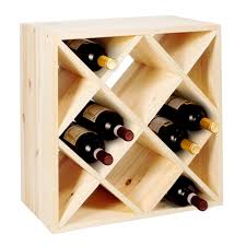 cube 52 wine rack system untreated wood winerack plus co uk