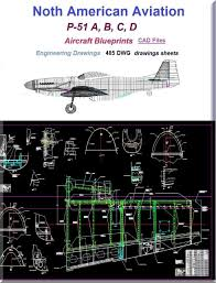 North American Aviation P 51 Aircraft Blueprints Engineering