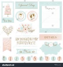 wedding scrapbook stickers cards stickers notes labels stock vector 415177450