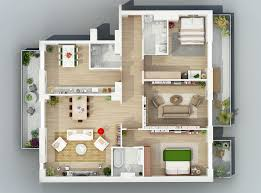 Apartment Designs Shown With Rendered D Floor Plans - Apartment design