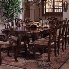 Formal Dining Table by Samuel Lawrence San Marino Pedestal Extension Formal Dining Table