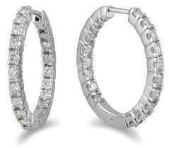 inside out diamond hoop earrings 1 carat inside out diamond hoop earrings
