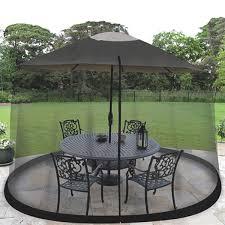 Patio Table With Umbrella 9 Ft Outdoor Patio Table Umbrella Bug Screen Mosquito Net Zippered