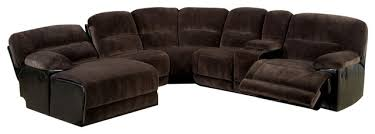 The Living Room Furniture Glasgow Glasgow Brown Elephant Skin Microfiber Sofa Sectional On The