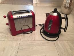 Dualit Toaster And Kettle Set Dualit Kettle And 2 Slice Toaster Metallic Red Set In Leamington