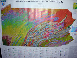 Pennsylvania Attractions Map by 1950 1990 U0027s Pennsylvania Maps