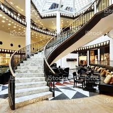 3 Floor Mall by Spiral Staircase In Shopping Mall In Berlin Stock Photo 182896789