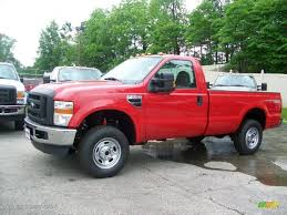 2010 vermillion red ford f250 super duty fx4 regular cab 4x4