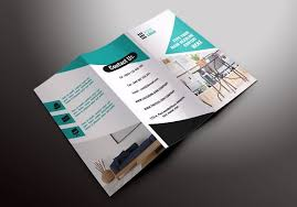 sided tri fold brochure template furniture tri fold brochures brochure templates creative market