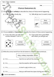 chance worksheets year 2 teaching resource u2013 teach starter