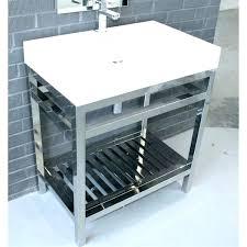contemporary free standing 24 inch grey single sink bathroom