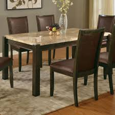 marble dining room sets acme furniture charissa dining table in aegean brown marble top