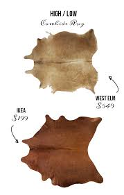 West Elm Cowhide Rug It U0027s High Low Time Trendy Rugs Edition The Accent