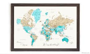 Framed World Map by Detailed Info How To Order A Framed Push Pin Map From Artisan