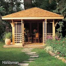 How To Build A Simple Shed by Build A Garden Archway Family Handyman