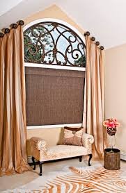 angled window treatments with medallions bing images window