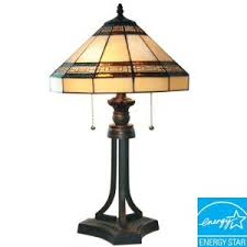 hampton bay rhodes 28 in bronze table lamp with natural linen