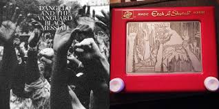 these classic album covers were drawn on an etch a sketch