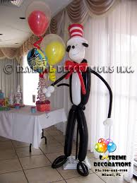 Cat In The Hat Table Centerpieces by Party Decorations Miami Balloon Sculptures