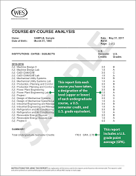 sample training report wes evaluation reports world education services comprehensive course by course report