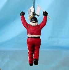 santa claus race track referee ornament tree picclick