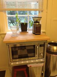Corner Microwave Carts And Stands Microwave Stand Coffee Station Retro Redo Vintage Kitchen