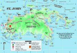 road map of st usvi american cross maps and graphics