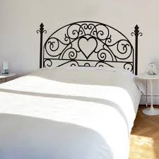 wrought iron headboard wall decal square plant wall sticker wrought iron headboard wall decal square plant wall sticker bedroom wall decor wall graphic wall mural headboard wall decoration queen black by wallsup