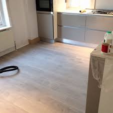 woven woods on just some beautiful warm grey laminate