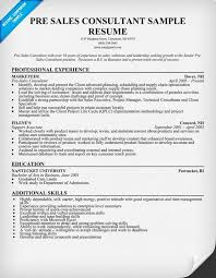 Consultant Resume Samples by Pre Sales Consultant Resume Sample Resumecompanion Com Resume