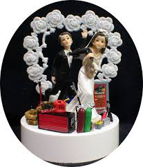 mechanic wedding cake topper heart car auto mechanic wedding cake topper groom top