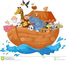 noah ark cartoon stock vector image 45744130