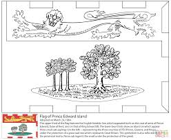 flag of prince edward island coloring page free printable