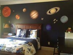 kids bedroom with space wall mural ideas space wall murals for